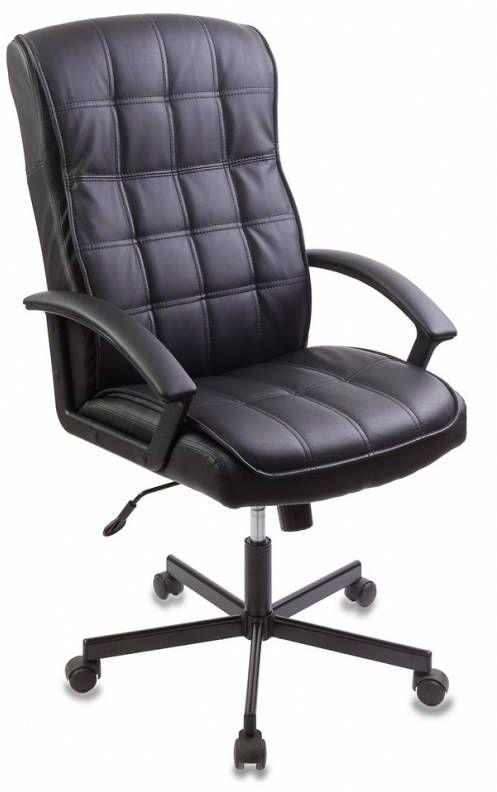 Кресло руководителя БЮРОКРАТ CH-823AXSN, на колесиках, искусственная кожа, черный [ch-823axsn/black]