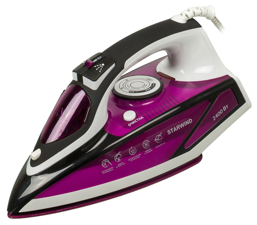 Утюг STARWIND SIR7927,  2400Вт,  фиолетовый/ черный