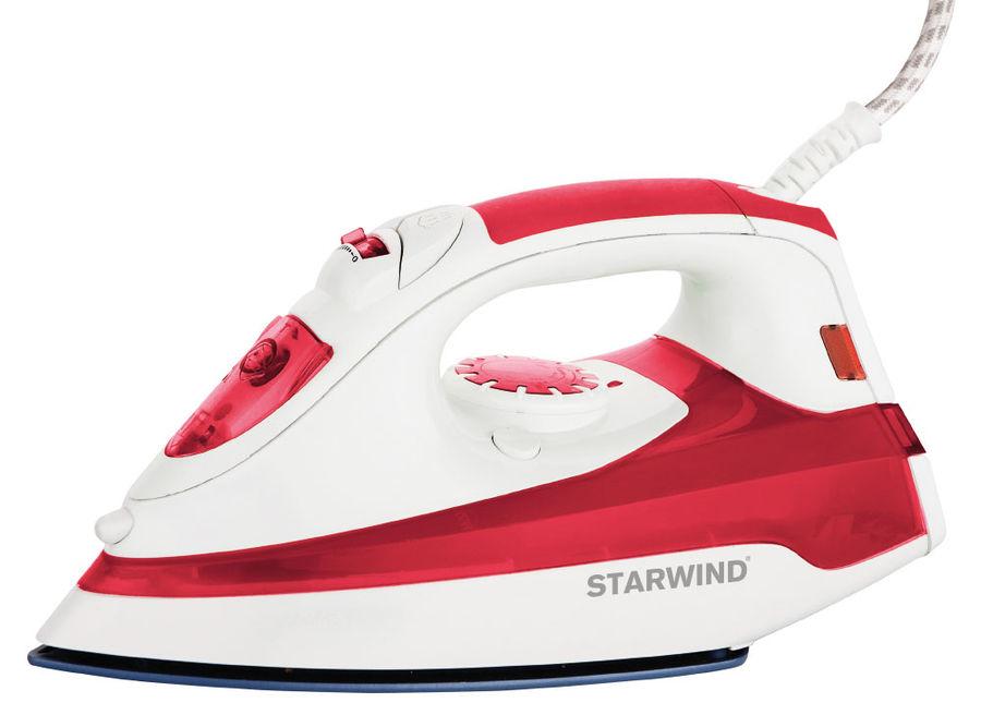 Утюг STARWIND SIR5824,  2200Вт,  красный/ белый