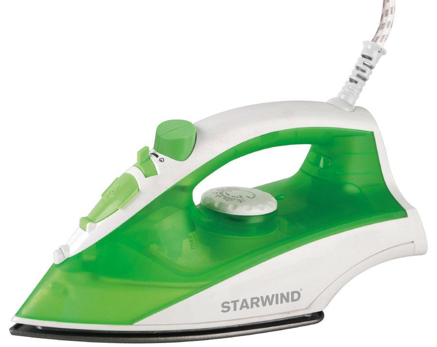 Утюг STARWIND SIR3635,  1600Вт,  зеленый/ белый