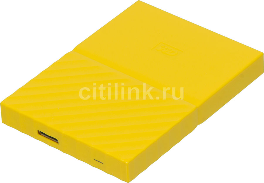 Внешний жесткий диск WD My Passport WDBBEX0010BYL-EEUE, 1Тб, желтый