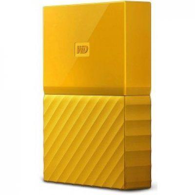 Внешний жесткий диск WD My Passport WDBUAX0030BYL-EEUE, 3Тб, желтый