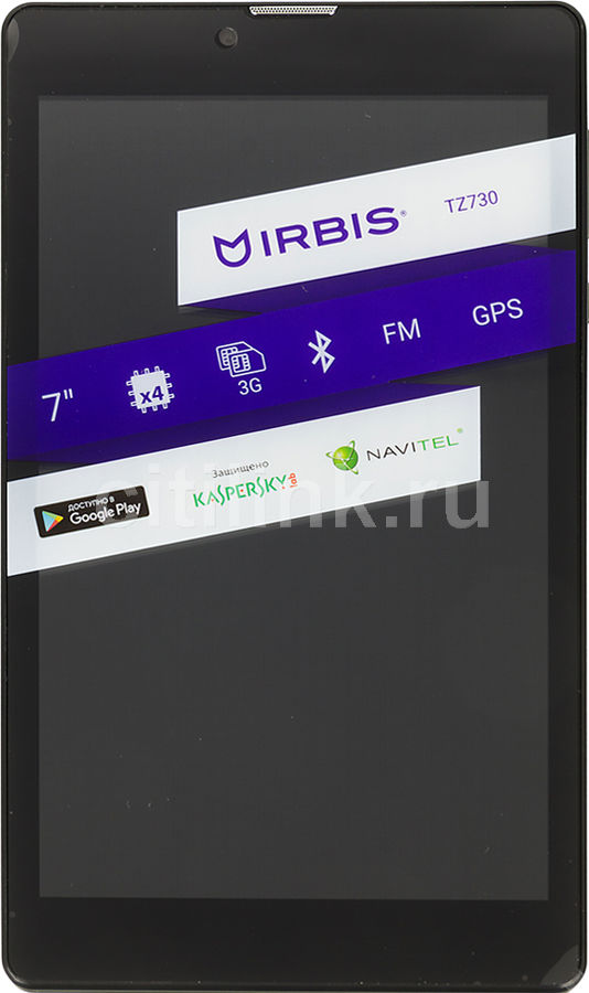 Планшет IRBIS TZ730,  512Мб, 8GB, 3G,  Android 4.4 черный
