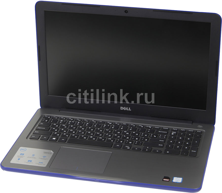 "Ноутбук DELL Inspiron 5567, 15.6"", Intel  Core i5  7200U 2.5ГГц, 8Гб, 1000Гб, AMD Radeon  R7 M445 - 4096 Мб, DVD-RW, Linux, 5567-0254,  синий"