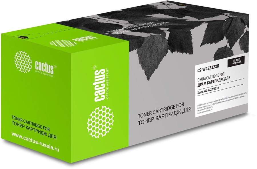 Картридж Cactus CS-WC5222XR 101R00435 черный (80000стр.) для Xerox WC 5222/5230 (плохая упаковка)