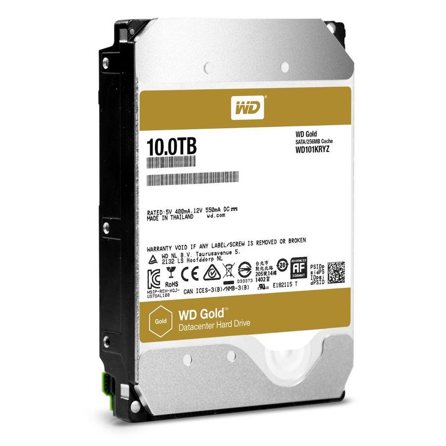 """Жесткий диск WD Gold WD101KRYZ,  10Тб,  HDD,  SATA III,  3.5"""""""
