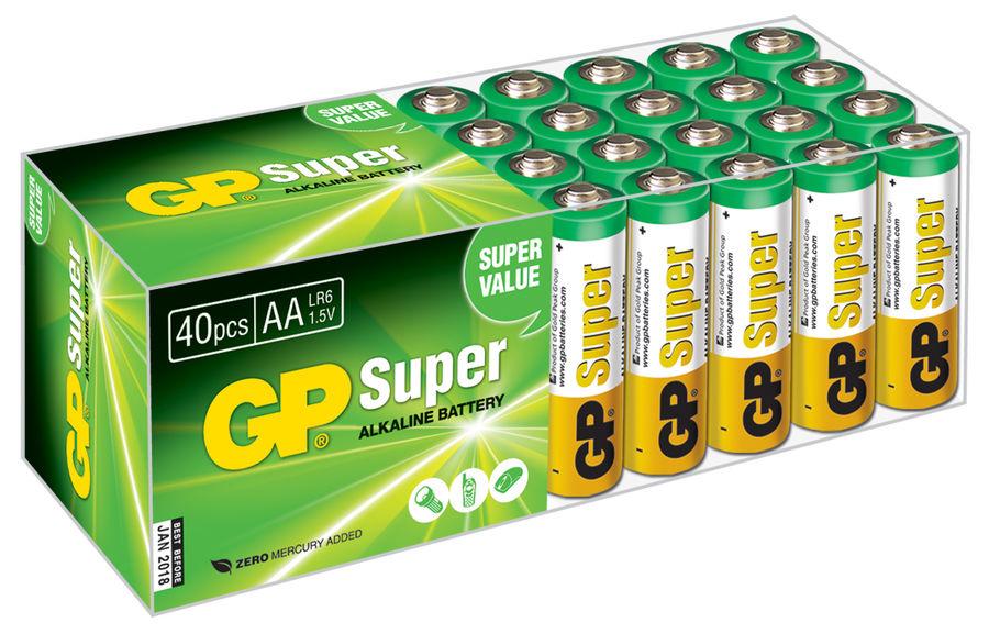 Батарейка GP Super Alkaline 15A LR6,  40 шт. AA