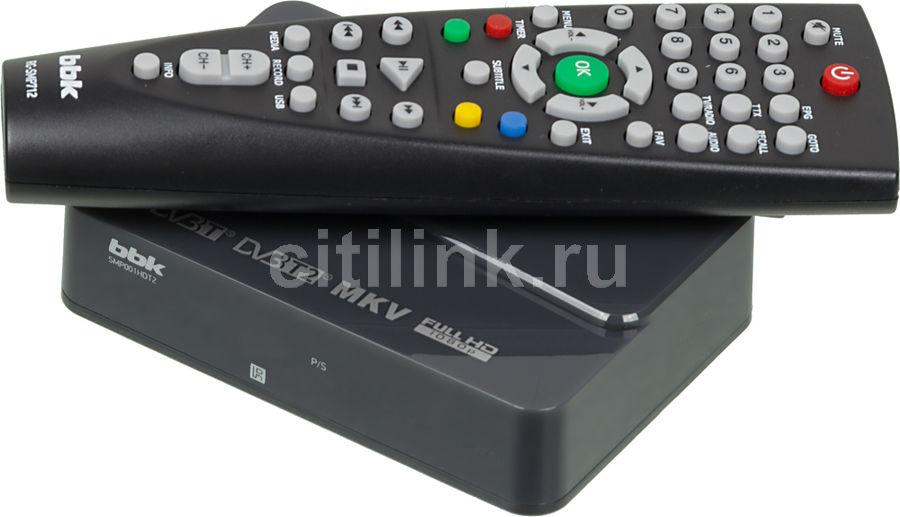 Ресивер DVB-T2 BBK SMP001HDT2,  темно-серый