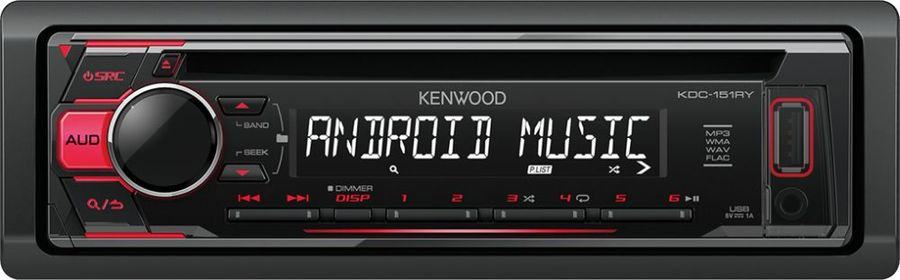 Автомагнитола KENWOOD KDC-151RY, USB автомагнитола kenwood kdc 300uv usb mp3 cd fm rds 1din 4х50вт черный