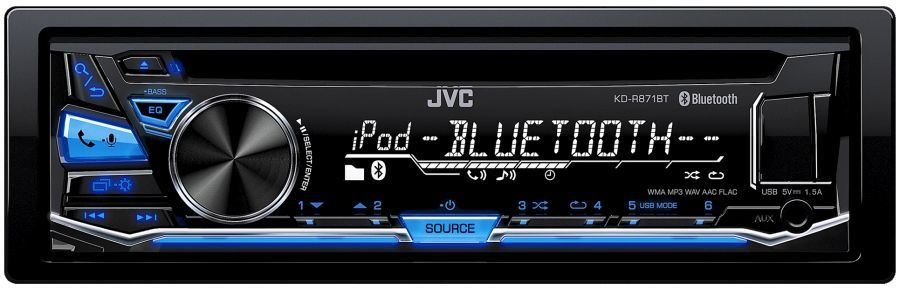 Автомагнитола JVC KD-R871BT,  USB