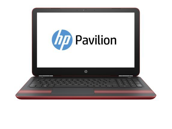 Ноутбук HP Pavilion 15-au124ur, 15.6, Intel Core i3 7100U 2.4ГГц, 4Гб, 1000Гб, Intel HD Graphics 620, DVD-RW, Windows 10, красный [z6k50ea]
