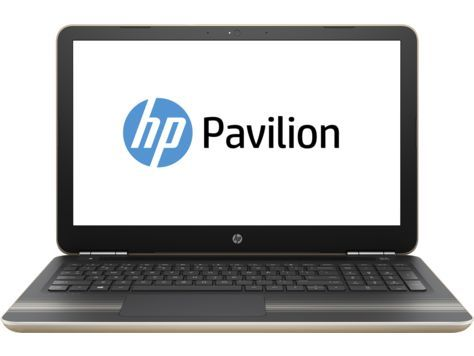 "Ноутбук HP Pavilion 15-au128ur, 15.6"", Intel  Core i3  7100U 2.4ГГц, 4Гб, 1000Гб, Intel HD Graphics  620, DVD-RW, Windows 10, Z6K54EA,  золотистый"
