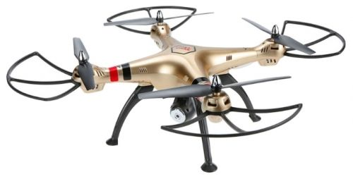 Квадрокоптер SYMA X8HC с камерой,  золотистый