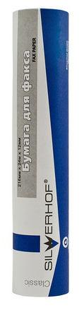 Термобумага Silwerhof 717005 216мм-24м/55г/м2 для факса втулка:12мм