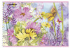 Альбом для рисования Silwerhof 911128-74 40л. A4 Нежные цветы 1диз. мел.картон гребень вид 1