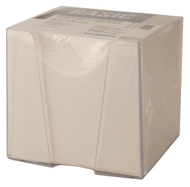 Блок для записей бумажный Silwerhof ЭКОНОМ 701012 90х90х90мм белый в подставке