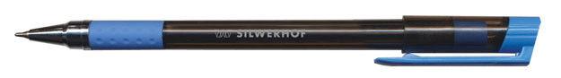 Ручка шариковая Silwerhof TRON (016031-02) 0.5мм обрез.корпус черн.на масл.основе синие чернила