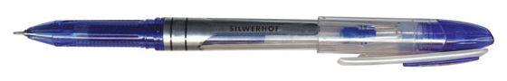 Ручка гелевая Silwerhof SABER (016062-02) 0.5мм игловидный пиш. наконечник синие чернила индив. паке