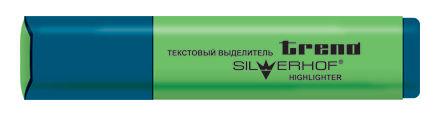 Текстовыделитель Silwerhof Trend 103001-23 скошенный пиш. наконечник 1.5мм зеленый коробка