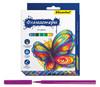 Фломастеры Silwerhof 867200-24 Бабочки 8мм 129мм Вентилируемый 24цв. коробка с европодвесом вид 1