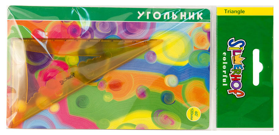 Угольник Silwerhof Colorful 540093 пластик