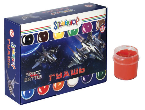 Гуашь Silwerhof 962062-12 Space battle 12цв. бан. 20мл. картон.кор.