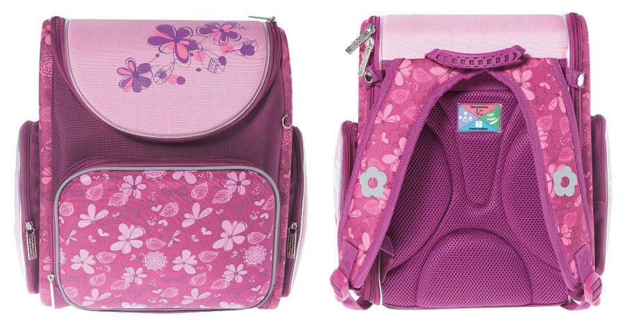 Ранец Silwerhof FLOWERS розовый/фиолетовый Цветы [830740]