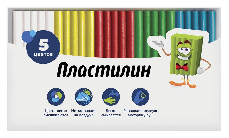 Пластилин Silwerhof 956145-05 Народная кол-ция 5цв. 50гр. картон.кор.