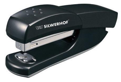 Степлер Silwerhof 401066-01 DEBUT 24/6 26/6 (20листов) черный 100скоб пластик