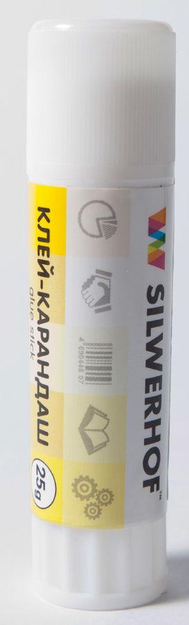 Клей-карандаш Silwerhof 436425 25гр ПВП дисплей картонный