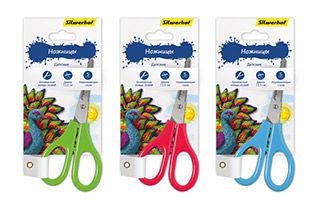 Ножницы Silwerhof 453068 Пластилиновая коллекция детские 13.3мм ручки пластиковые ассорти блистер