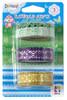 Клейкая лента декоративная Silwerhof Hobby 481029 зеленая/сиреневая/желтая ткань (упак.:3шт)