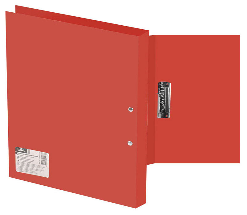 Папка с метал.зажим Silwerhof Basic 255073-27 A4 0.5мм красный