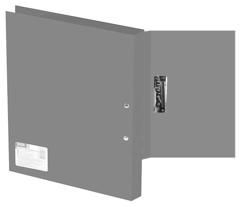 Папка с метал.зажим Silwerhof Basic 255073-11 A4 0.5мм серый