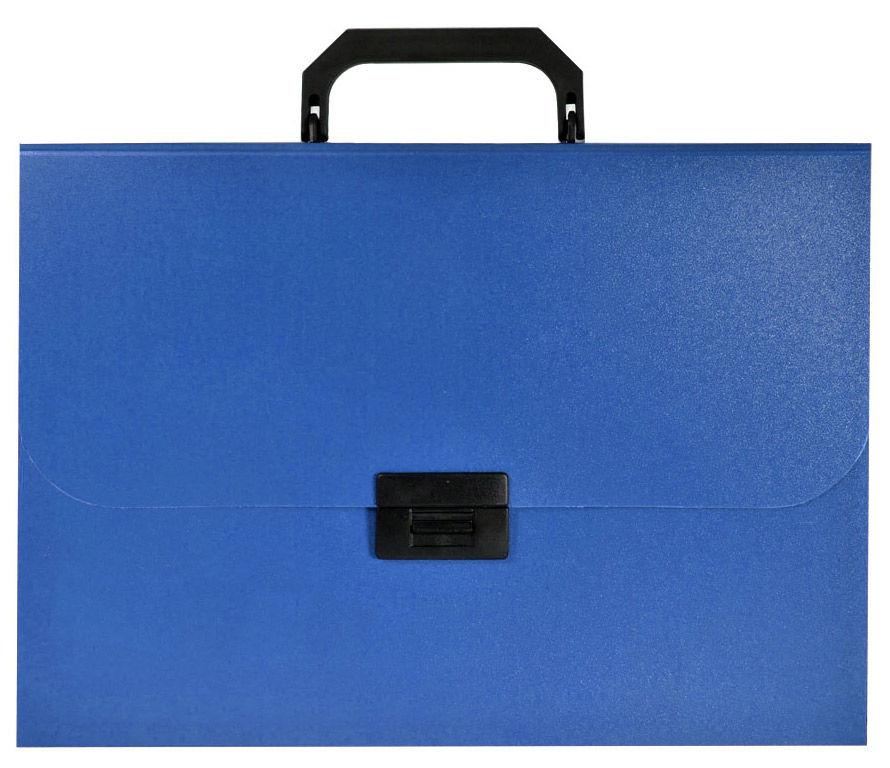 Портфель Silwerhof 255077-02 12 отдел. A4 пластик синий