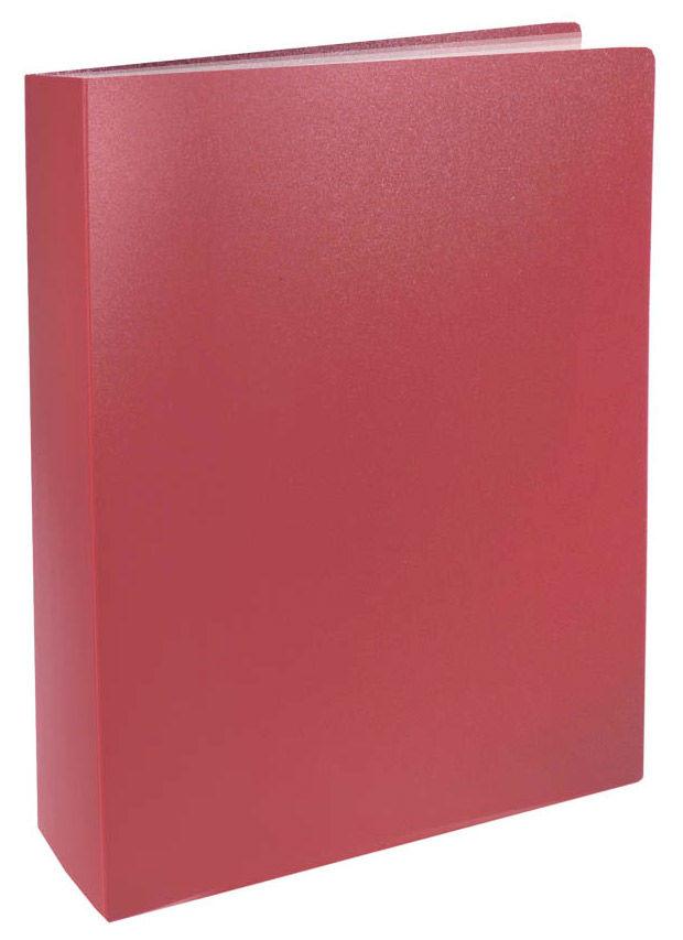Папка с 80 прозр.вклад. Silwerhof Basic 255151-27 A4 0.8мм красный
