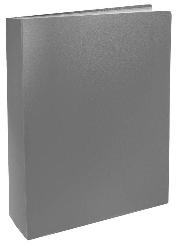 Папка с 100 прозр.вклад. Silwerhof Basic 255152-11 A4 0.8мм серый
