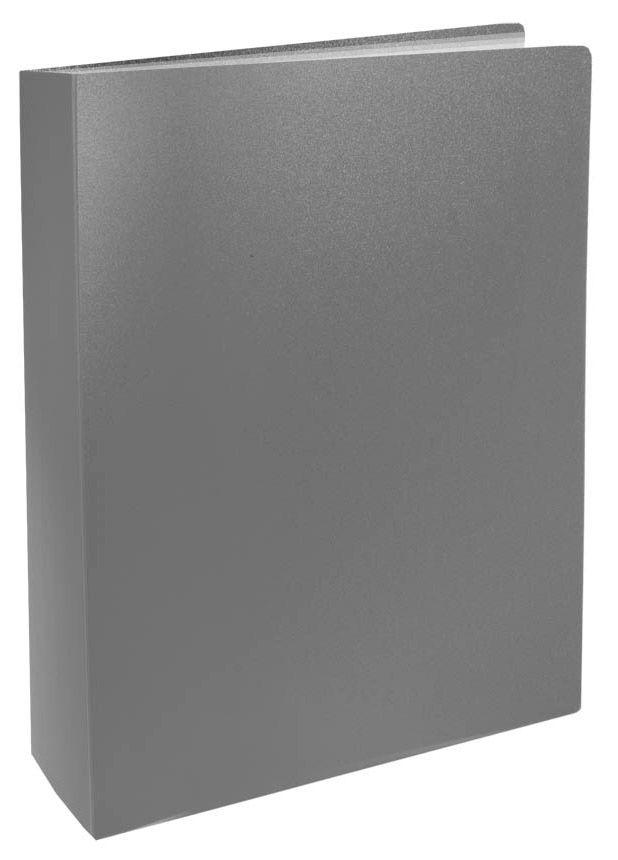 Папка с 60 прозр.вклад. Silwerhof Basic 255150-11 A4 0.6мм серый
