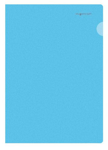 Папка-уголок Silwerhof Classic 255133-02 A4 0.15мм синий