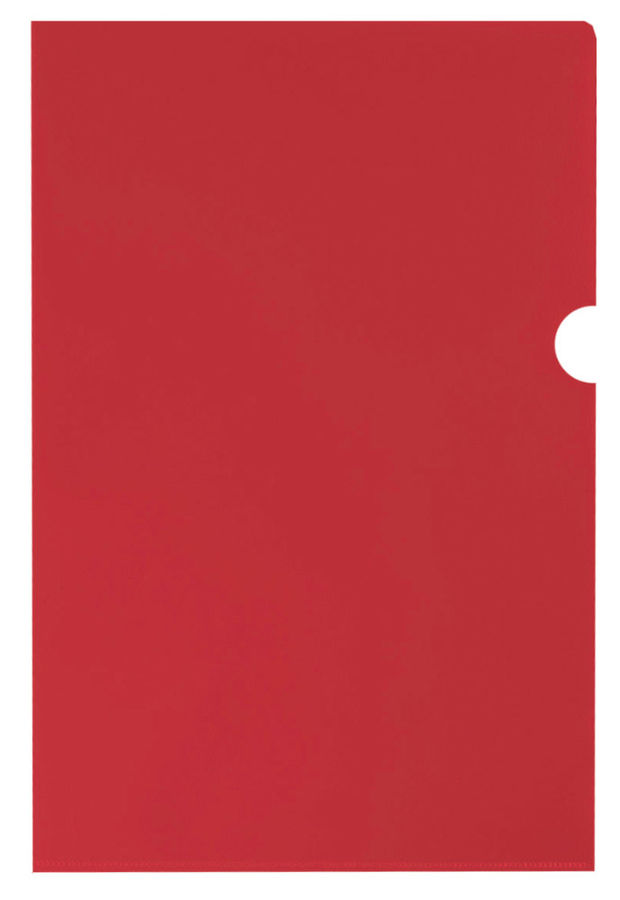 Папка-уголок Silwerhof Basic 255178-04 A4 0.1мм красный