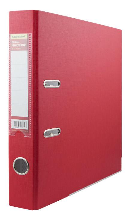 Папка-регистратор Silwerhof 355020-04 A4 50мм ПВХ/бумага красный мет.окант. смен.карм. на кор.