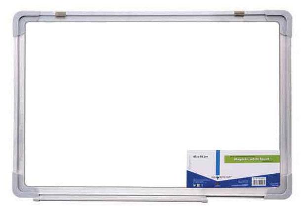 Демонстрационная доска Silwerhof 651021-01 магнитно-маркерная эмаль 90x180см алюминиевая рама