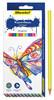 Карандаши цветные Silwerhof 134196-24 Бабочки шестигран. 2.8мм 24цв. коробка/европод. вид 1