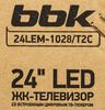 """LED телевизор BBK 24LEM-1028/T2C  """"R"""", 24"""", HD READY (720p),  черный вид 13"""