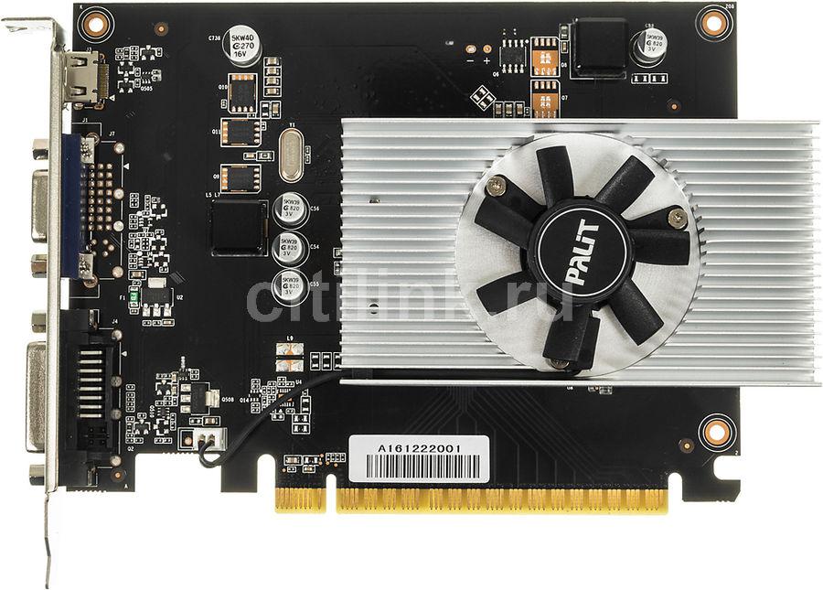 Видеокарта PALIT nVidia  GeForce GT 730 ,  PA-GT730K-4GD5H,  4Гб, DDR5, Low Profile,  oem [ne5t730013g6-2082f bulk]