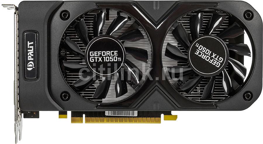 Видеокарта PALIT nVidia  GeForce GTX 1050TI ,  PA-GTX1050Ti Dual 4G,  4Гб, GDDR5, Ret [ne5105t018g1-1071d]