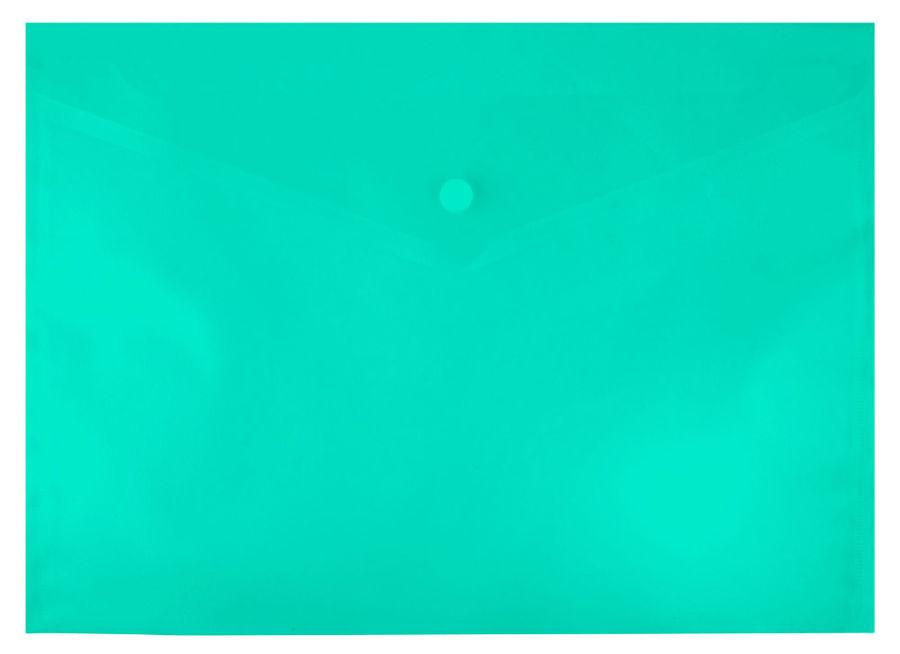 Конверт на кнопке Silwerhof 255080-03 A4 гориз. тисненый 0.12мм зеленый