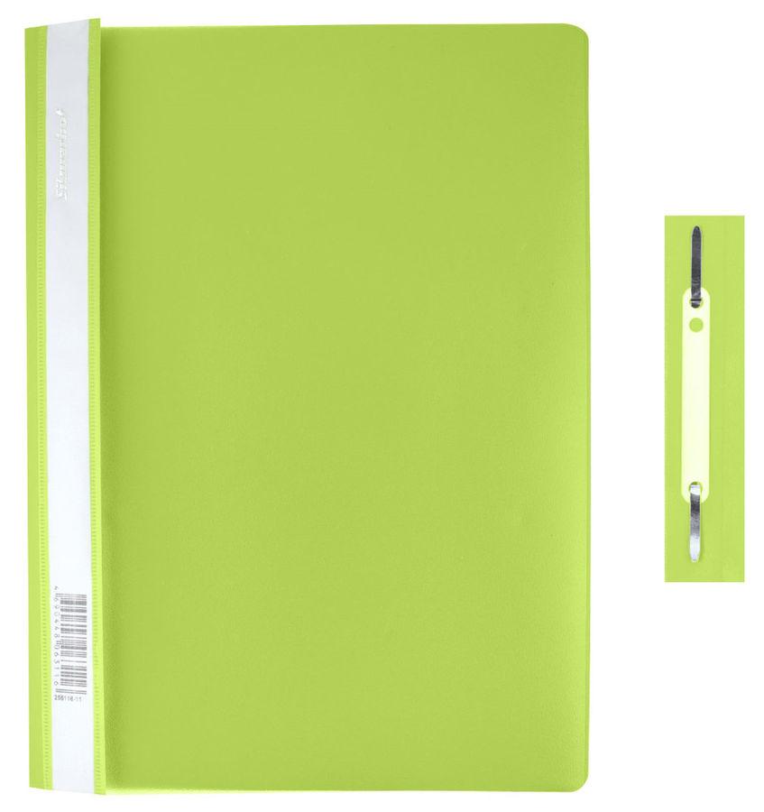 Папка-скоросшиватель Silwerhof Classic 255116-31 A4 прозрач.верх.лист салатовый 0.12/0.18мм (упак.:1