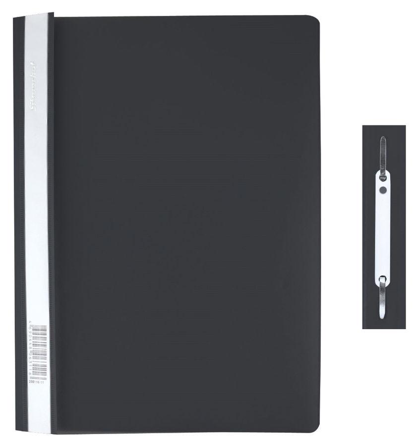 Папка-скоросшиватель Silwerhof Classic 255116-01 A4 прозрач.верх.лист черный 0.12/0.18мм (упак.:10шт