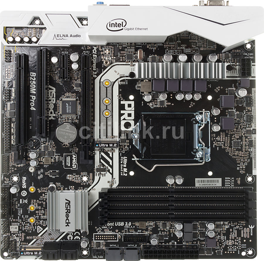 Материнская плата ASROCK B250M PRO4, LGA 1151, Intel B250, mATX, Ret